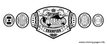 wwe championship belt coloring pages printable