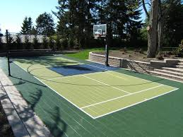 Backyard Basketball Court How To Budget For A Home Basketball Court