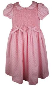 editions polka dot smocked dress treasure box