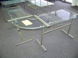 Glass Top Computer Desks For Home Large Glass Top Desk U2013 Archana Me
