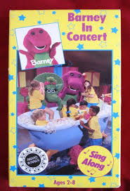 Barney And Backyard Gang Barney In Concert Vhs Video Sing Along And The Backyard Gang