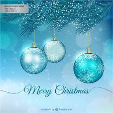 merry christmas background balls vector free download