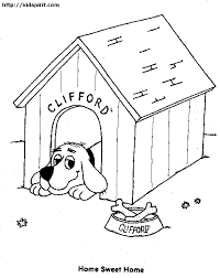 dog house coloring pages getcoloringpages
