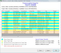 sql server compare tables sql server comparison tool database management software pc