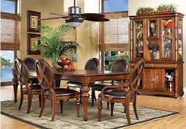 Rooms To Go Dining Table Sets by Cindy Crawford Home Key West Tobacco 5 Pc Rectangle Dining Room