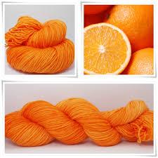 wollelfe soft orange merino twin 4 ply