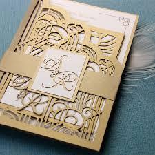 gatsby wedding invitations bespoke laser cut wedding invitation set from cartalia