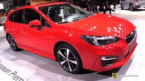 subaru impreza 2018 hatchback 2018 subaru impreza exterior and interior walkaround debut at