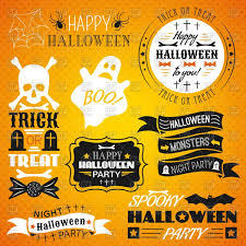 halloween lables halloween stickers labels ribbons and other design elements