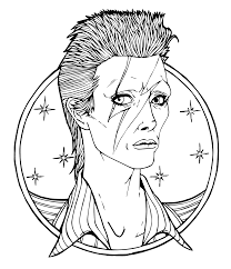 download david bowie coloring page by austin artist austin music