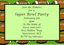 super bowl party invitations 2017 football