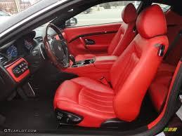 maserati models interior rosso corallo red interior 2008 maserati granturismo standard