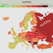 Show Me A Map Of Europe by Map Of The Most Polluted And U0027toxic U0027 Countries Business Insider