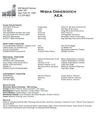 actors resume format acting resumes with no experience resume for
