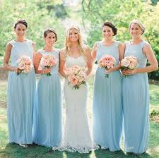 blue bridesmaid dresses light blue bridesmaid dresses 2015 plus size pleated chiffon