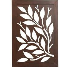 wooden leaves wall and white leaf wall