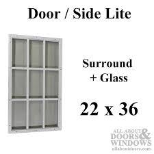 9 Lite Exterior Door Therma Tru 22 X 36 X 1 2 9 Lite Surround W Glass Door Lite 15