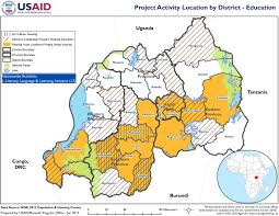 Rwanda Map Usaid Rwanda U0027s Education Program Locations By District U S