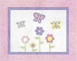 amazon com pink and purple butterfly accent floor rug by sweet