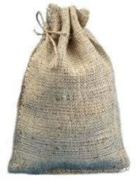 8 x 12 new burlap bags with jute drawstring pack