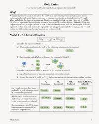 molar ratio worksheet answers worksheets