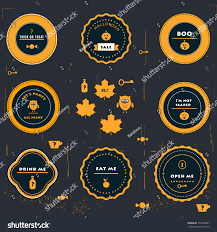 halloween labels icons tags stock vector 157454681 shutterstock