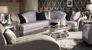 Silver Living Room Furniture Silver Living Room Furniture Silver Color Fabric Sectional
