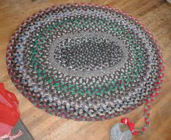 Round Braided Rugs For Sale Decorating Lovely Round Multicolor Braided Rugs With Flower Motif