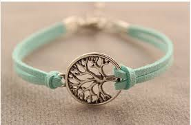 simple rope bracelet images 5 pcs cute simple wish life tree leather rope bracelets women jpg