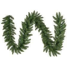 vickerman unlit camdon fir garland 9 green