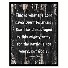 army home decor this is what the lord says don u0027t be afraid don u0027t be discouraged by