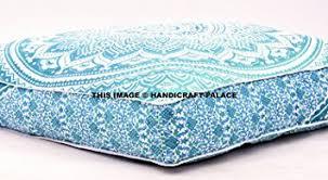 Cushion Ottoman Ombre Mandala Large Floor Cushion Handmade Lounge