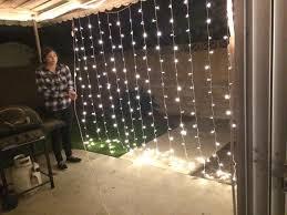amazon com agptek 3mx3m 300led string light curtain light for