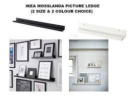 ikea mosslanda ikea mosslanda picture photo ledge rail shelf black white 55cm