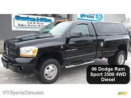 dodge ram 3500 regular cab dually 2006 dodge ram 3500 sport regular cab 4x4 dually in black 104136