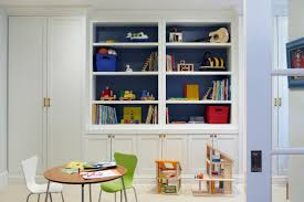 Built In Wall Shelves by Pre War Apartment Becomes Fun Sophisticated Space Playroom