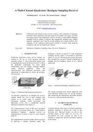 multichannel bandpass sampling sonar receiver