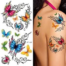 amazon com supperb temporary tattoos colorful