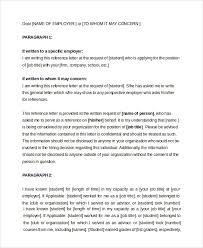 sample letter of recommendation for employment 7 examples in