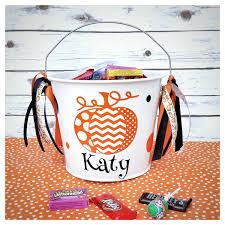 personalized halloween buckets personalized halloween bucket trick or treat bucket candy