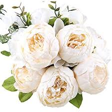 amazon com duovlo springs flowers artificial silk peony bouquets