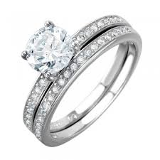 Sterling Silver Wedding Ring Sets by Should Sterling Silver Cz Engagement Rings Be Worn Single Or Stacked