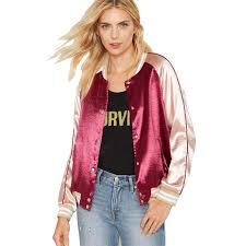 wholesale satin bomber jacket women 2017 wine red gold jacket coat