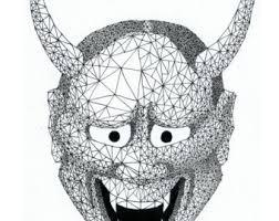 geometric drawing etsy