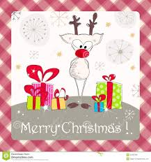 drawn cute christmas card pencil and in color drawn cute