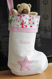 alphabet barn personalised christmas stocking handmade in the uk