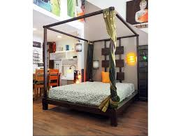 letto baldacchino letto in noce a baldacchino linea etnico outlet