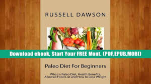 buy epub paleo diet for beginners what is paleo diet health
