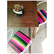 Purple Patio Cushions by Serape Covered Chair Pads Diy Diy Pinterest Seat Pads