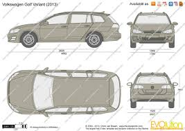 the blueprints com vector drawing volkswagen golf variant